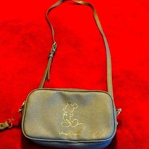 Disney Sephora grey/ gold side bag w wrist strap